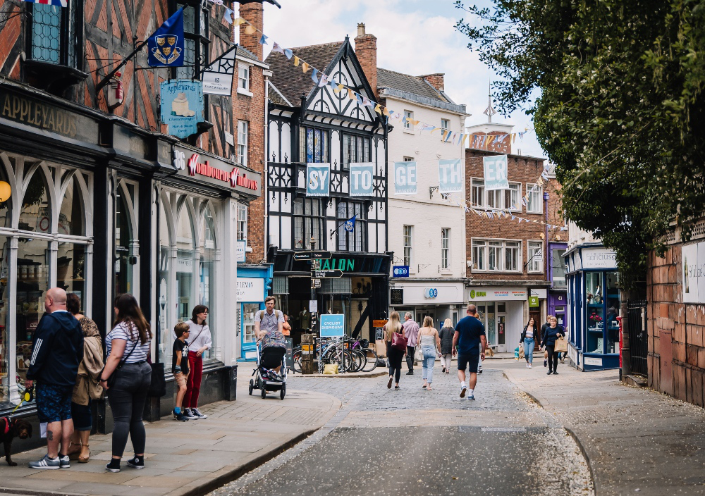Parts of Shrewsbury Town centre set to remain traffic-free for the rest of summer