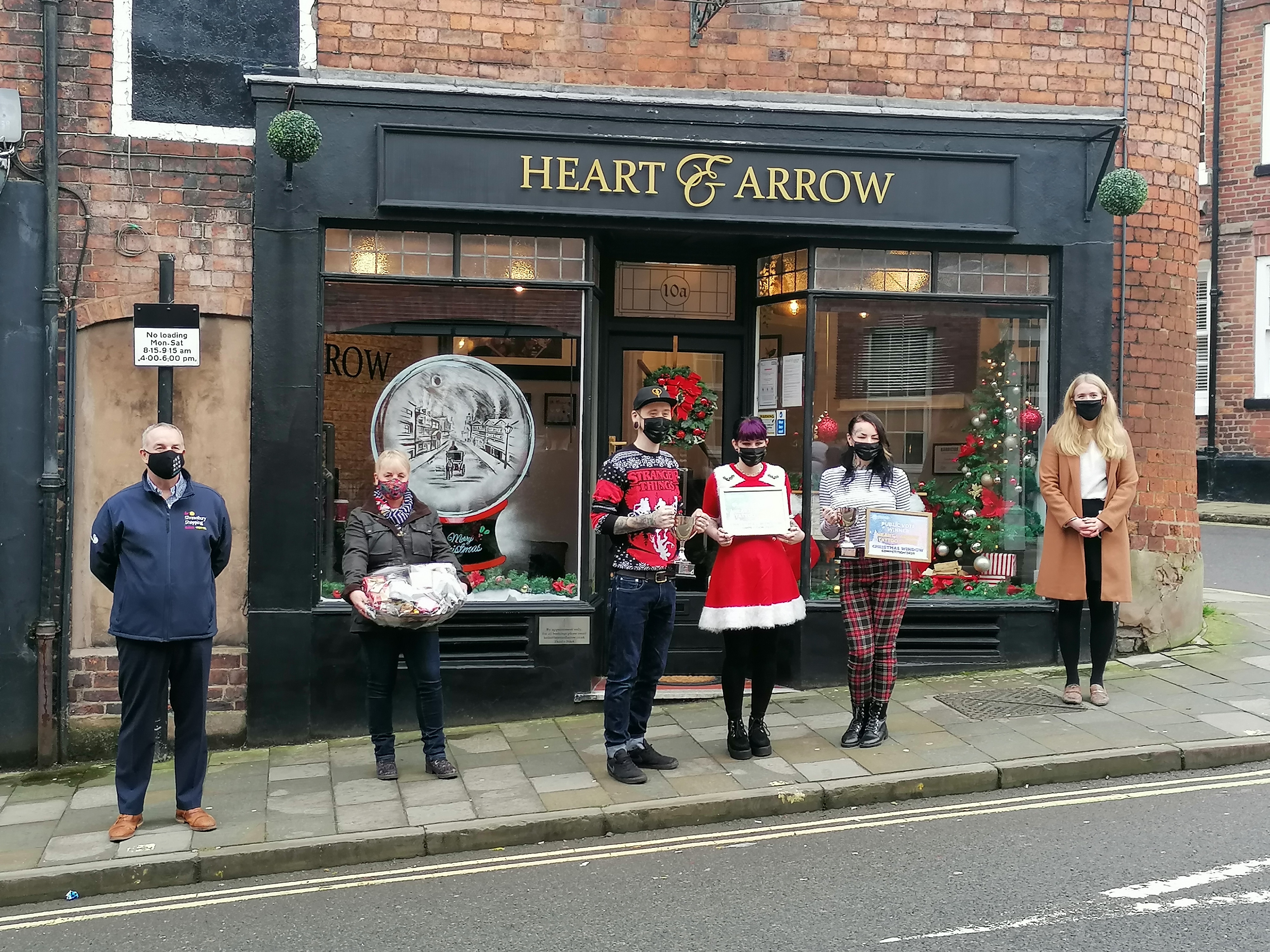 Christmas windows celebrated in Shrewsbury